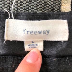 Freeway Skirts - Freeway Black Lined A Line Skirt